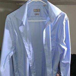 Light Blue Michael Kors Dress Shirt